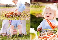 Lots adorable photo ideas - love the shot between his legs!