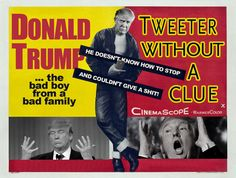 Tweeter Without a Clue Political humor featuring Donald Trump