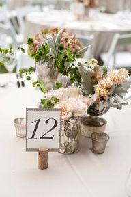 Wedding Table Numbers using Wine Corks