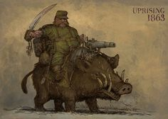 Boar rider by Hetman80 on DeviantArt