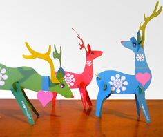 Oh gosh too lovely! I'm a sucker for paper crafts and these reindeer are great...