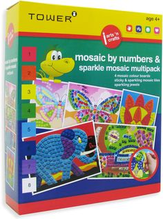 Enjoy all your favourite designs in one pack! These multipacks are the ultimate 'edutainment' product that will keep kids entertained for hours while having fun learning! Office Organisation, Colour Board, Fun Learning, Mosaic Tiles, Your Favorite, Have Fun, Arts And Crafts, Africa, Tower