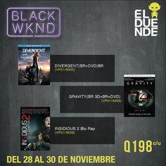 ¡Ofertas exclusivas de Pelis durante el #BlackWeekend de El Duende! #BlackFriday
