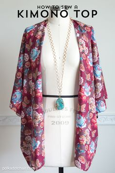 If you're looking for a fun summer sewing project you may like this super simple to sew Kimono Jacket.