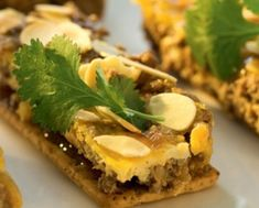 MULTIGRAIN BOBOTIE SLICES – Bakers Cream Crackers, Baker Recipes, South African Recipes, Multigrain, Appetisers, Waffles, French Toast, Recipies, Good Food