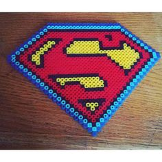 Superman perler beads by  crankupcreations
