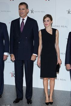 King Felipe and Letizia looked elegant in simple black to open the new season at Madrid's Royal Theatre last week