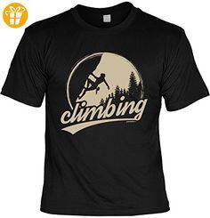 Fun T-Shirt - Wandern Hobby Motiv - Climbing - Unisex, Farbe: schwarz - Shirts mit spruch (*Partner-Link)