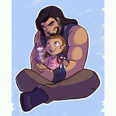 A cartoon of Roman and Joelle