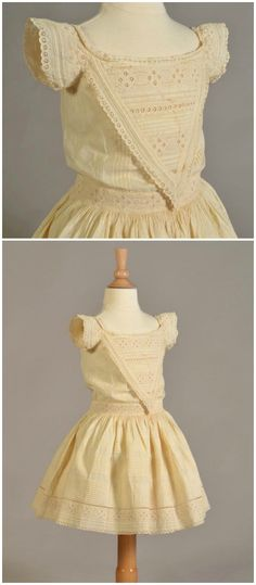 Child's dress of cotton, American, 1860s, at Kent State University Museum. Via the museum's page on Facebook.
