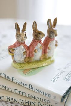 LOVE Beatrix Potter books & illustrations. Used to collect these little statues (I have this one)