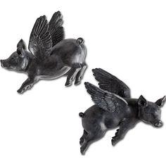 Laurel Foundry Modern Farmhouse 2 Piece Black Resin Sculpture Set & Reviews | Wayfair