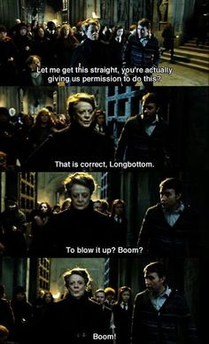 Find images and videos about harry potter, hogwarts and boom on We Heart It - the app to get lost in what you love. Harry Potter World, Objet Harry Potter, Harry Potter Jokes, Harry Potter Universal, Harry Potter Fandom, Hogwarts, Fans D'harry Potter, Potter Facts, Movies Quotes