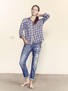 Mos Mosh Alice_check_shirt Hip_jeans