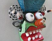Mini Mask 8 - Original Found Object Art by Fig Jam Studio