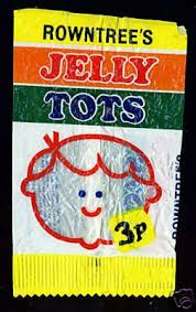 Nostalgia: the Jelly Tots package Old Sweets, Vintage Sweets, Retro Sweets, Vintage Tv, 1980s Childhood, My Childhood Memories, Sweet Memories, Jelly Tots, Sweet Wrappers