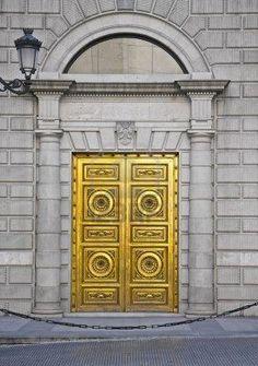 A golden door in Madrid, Spain