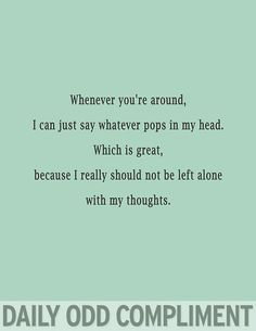 Left alone with my thoughts