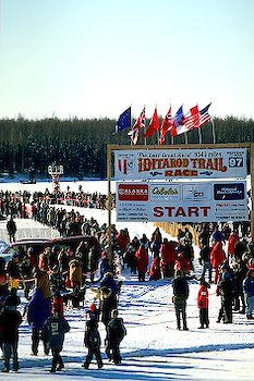 Iditarod... dog sled race!!  I feel fortunate to have seen the official start twice, traveling by train excursion to Willow.