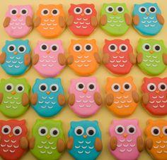 Owl Cookies, MINI SIZE baby owls - 3 dozen. $36.00, via Etsy.