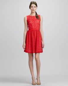 T6Y21 Erin Fetherston Elle Lace Sleeveless Fit & Flare Dress