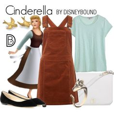 Cinderella by leslieakay on Polyvore featuring Dorothy Perkins, Calypso St. Barth, Jimmy Choo, Furla, disney, disneybound and disneycharacter