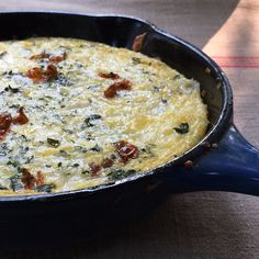 Summer Squash & Ricotta Frittata recipe - created with the help of Watson computer AI recipe software