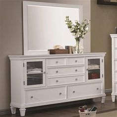 Camellia Country White Wood Dresser