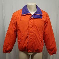 71bbc8b221 vtg 90s MIGHTY MAC Orange Purple Green Ski Boating Fall Winter Coat Jacket  Men