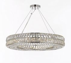 Crystal Elipse Ring Chandelier Led Chandeliers Modern ...