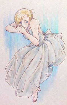 Eren And Annie, Armin Snk, Blonde Anime Girl, Female Titan, Annie Leonhart, Rivamika, Anime Nerd, Girls Anime, Attack On Titan Anime
