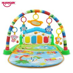 $66.24 - Awesome Huanger Baby 3 in 1 Play Rug Develop Crawling Children's Music Mat with Keyboard Infant Fitness Carpet Educational Rack Toys pad - Buy it Now!