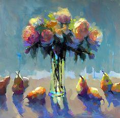 Pear Plenitude by Trisha Adams Oil ~ 36 x 36