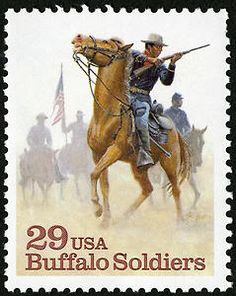 US Buffalo Soldiers commemorative stamp