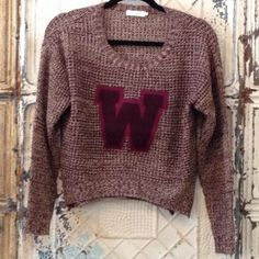 Check out this super cute W sweater! get it now at www.thespottedzebrastore.com