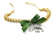 Ribbon and Bead Bracelet with Shamrock Charm {Part 3}
