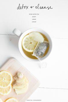 detox kusmi tea with honey lemon & ginger