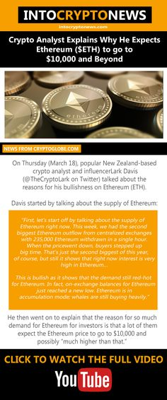 On Thursday (March 18), popular New Zealand-based crypto analyst and influencer Lark Davis (@TheCryptoLark on Twitter) talked about the reasons for his bullishness on #Ethereum (#ETH). Cryptocurrency News, Explain Why, Thursday, March, Popular, Twitter, Popular Pins, Mac, Most Popular