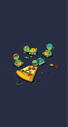 Teenage Mutant Ninja Turtles TMNT Eating Pizza iPhone 5 Wallpaper - Best of Picture World Cartoon Wallpaper, Iphone 5 Wallpaper, Ninja Wallpaper, Iphone Wallpaper Illustration, Unicorns Wallpaper, Vogue Wallpaper, Aztec Wallpaper, Walpaper Iphone, Phone Lockscreen
