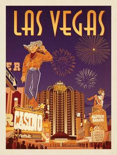 Anderson Design Group - paint and art Las Vegas Trip, Las Vegas Nevada, Vegas Casino, Poster S, Poster Prints, Photo Vintage, Photo Wall Collage, Vintage Travel Posters, American History