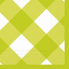 DESIGN DESIGN GINGHAM LIME GREEN BEVERAGE NAPKINS - 20 CT #YoYoBirthday