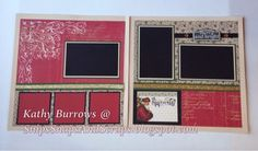 Yuletide Carol scrapbooking workshop at Snips, Snaps, and Scraps - pages 3 and 4 of 6 pages