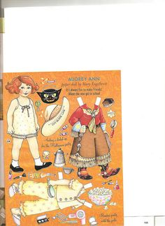 (⑅ ॣ•͈ᴗ•͈ ॣ)♡                                                                                                                      Paper doll.   Estelle's friend Audrey Ann by Lagniappe*Too, via Flickr