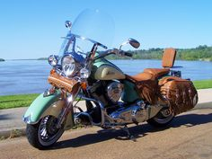 Indian Chief motorcycle! We are considering this as a present to ourselves next summer :)