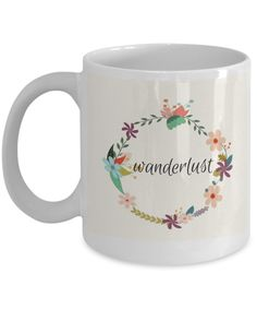 Wanderlust vintage floral coffee mug to feed your wanderlust and coffee habit. Perfect gift for travellers. Christmas Travel, Christmas Gifts, Gifts For Him, Great Gifts, Novelty Mugs, Travel Gifts, Vintage Floral, Coffee Mugs, Birthdays