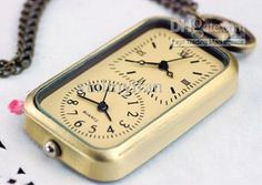 Wholesale Retro Digital Pocket Watch Necklace Watches Dual Movement Antique Pocket Watch From Xinlinyiran, $63.19 | Dhgate.Com