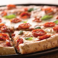 Flax Seed Pizza Crust – a high-fiber, nutritious way to serve your family their favorite takeout meal at home.