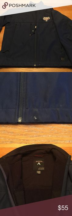 Antigua New York Yankees Men's Jacket Pre owned mens jacket.  Light weigh, cold weather, water resistant.  2 side pockets. Fleece lined.  Great condition other than the small stain shown. Antigua Jackets & Coats Lightweight & Shirt Jackets
