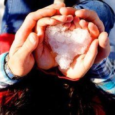Heart made of snow -mayra