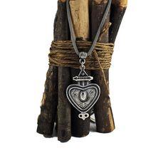 Ethnic Necklace Tribal Large Pendant by sunnybeadsbythesea on Etsy